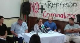 Conferencia relacionada con el tema del juicio a luchadoras y luchadores sociales.
