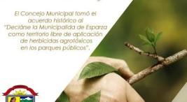 Cinco municipalidades mas prohiben aplicacion de herbicidas en areas publicas