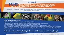 Foro Reglamento a la Ley de Conservacion de la Vida Silvestre