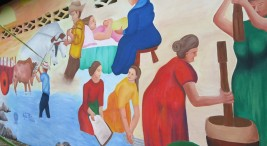 UNED Pintura y murales revitalizan historias de pueblos y las vidas de mujeres y jovenes3