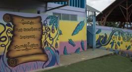 UCR Granadilla de Curridabat inaugura mural realizado por jovenes privados de libertad