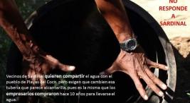 Vecinos de Sardinal quieren compartir el agua