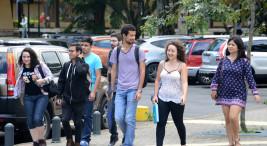 22/09/2017, Estudiantes en el campus de la sede Rodrigo Facio, vida estudiantil,