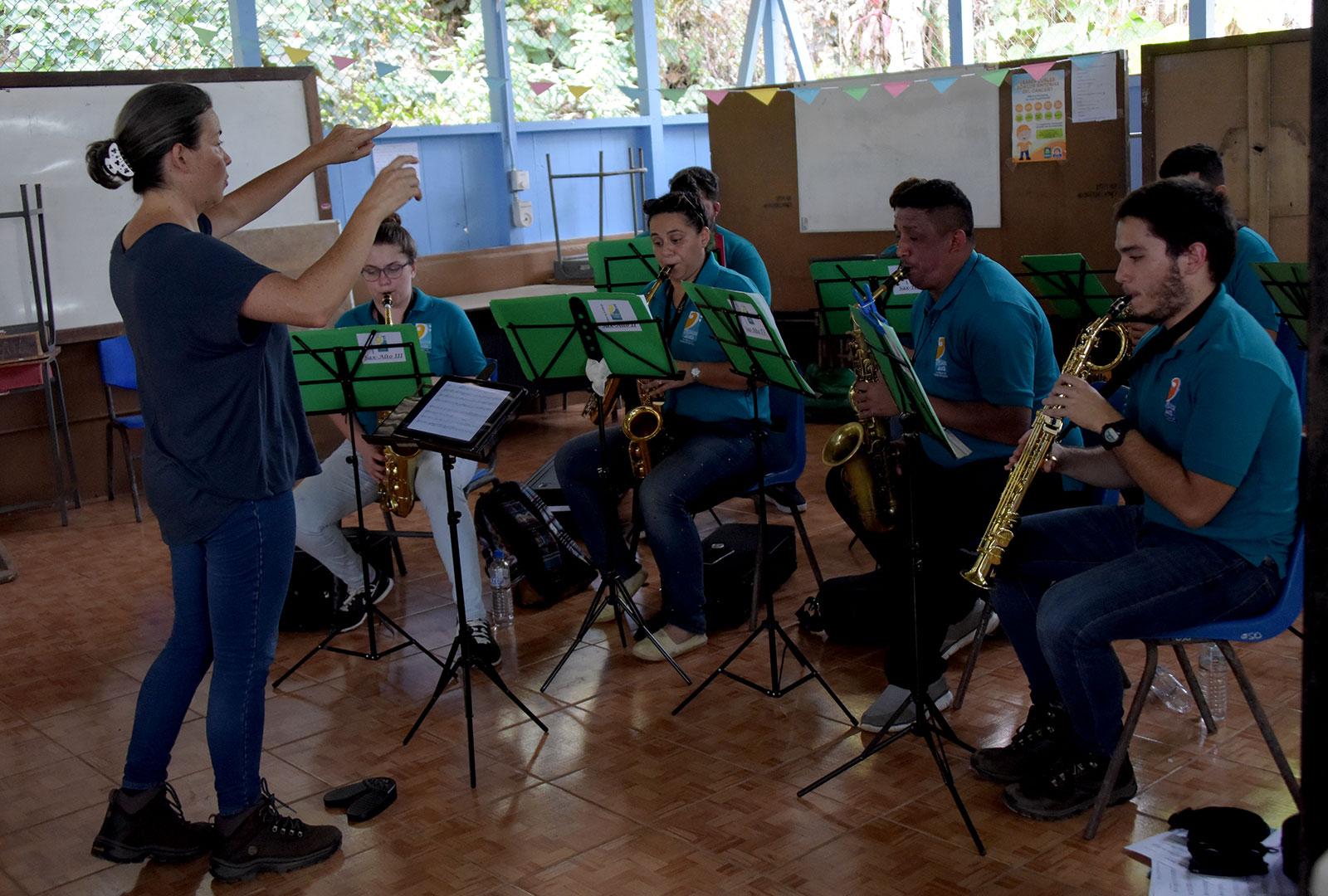 Primer concierto del Ensamble de Saxofones A de la UCR en Agujitas, Drake.