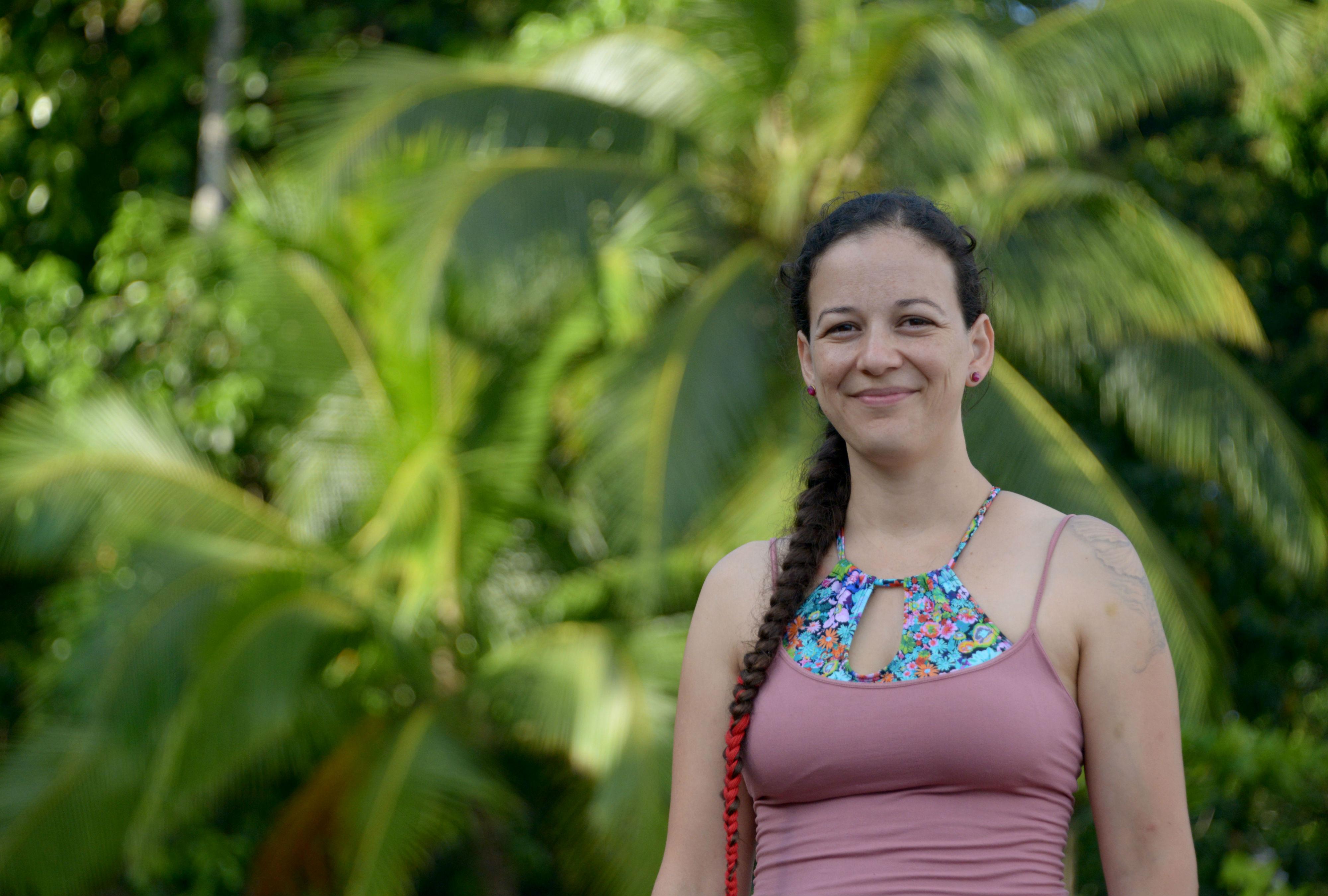 La coordinadora del TCU: Taller de Investigación sobre Salud Comunitaria de la Península de Osa, Milena Castro Mora.