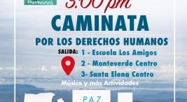 Caminata por los Derechos Humanos en Monteverde