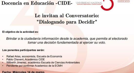 Conversatorio UNA Dialogando para Decidir