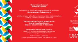 UNA presenta la iniciativa Comunidades Epistemicas