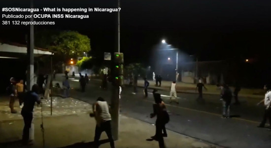 Imagen tomada de video publicado por OCUPA INSS Nicaragua