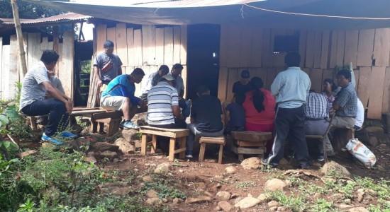 Reunión de la Coordinadora de Lucha Sur Sur en Salitre. Foto: Ditso.