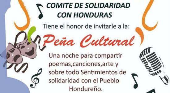 Pena Cultural Una noche de solidaridad con Honduras2