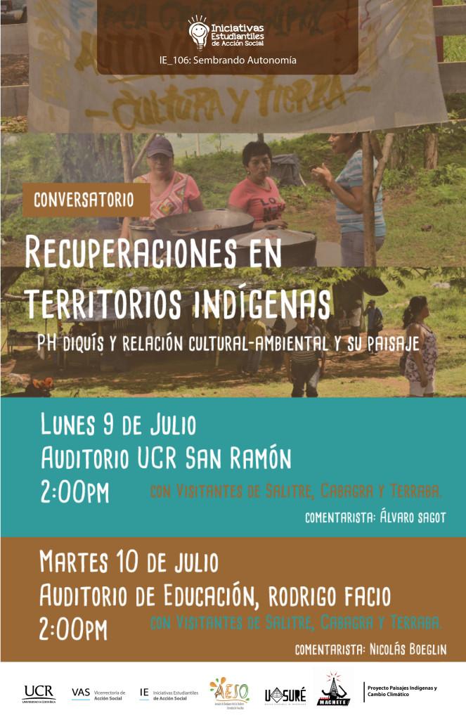 Conversatorio Recuperaciones en territorios indigenas PH Diquis