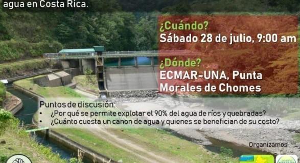 Encuentro ecologista para evaluar el modelo de concesiones de agua en Costa Rica