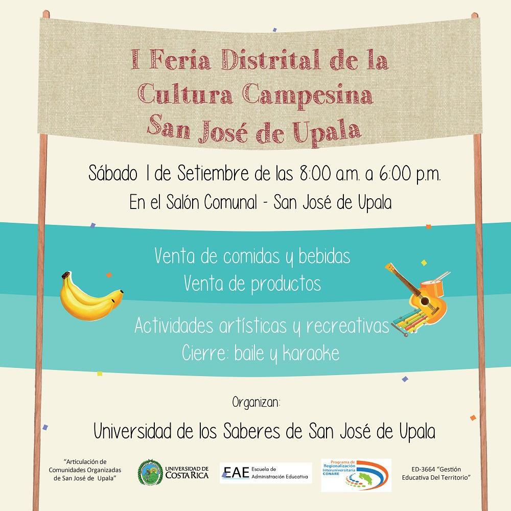 Comunidades de San Jose de Upala realizaran I Feria de la Cultura Campesina2