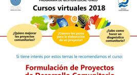 El Programa de Gestion Local de la UNED invita a los Cursos Virtuales 2018b