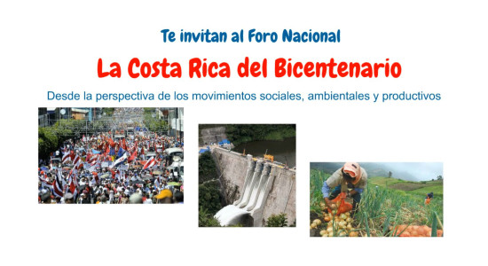 Foro Nacional La Costa Rica del Bicentenario