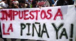 El sector pinero azuza al Ejecutivo para que aumente la represion contra manifestantes